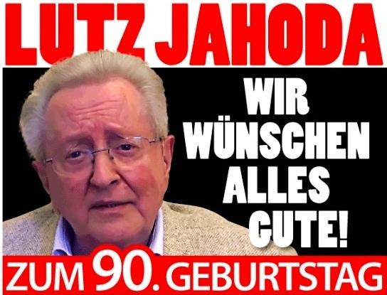 Herzlichen Glückwunsch zu Deinem 90. Geburtstag, lieber Lutz Jahoda! Deine vielen Schlager habe ich heute noch im Ohr. Alles Gute für Dich und Deine Angehörigen!