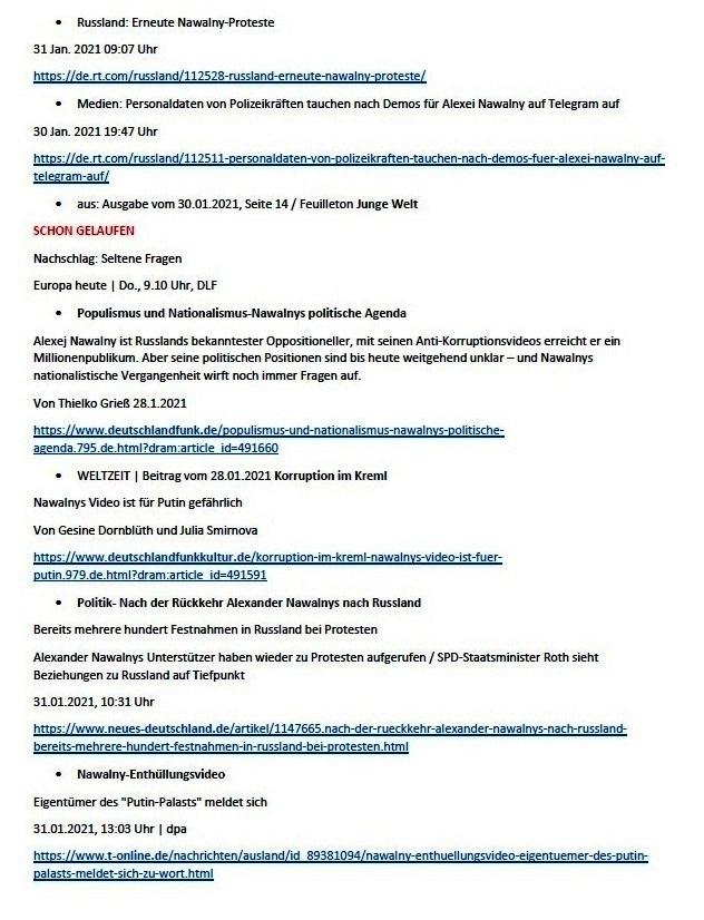 Links zu Putins 'Prachtschloss' und meine Meinung dazu - Aus dem Posteingang von Siegfried Dienel vom 31.01.2021 - Abschnitt 2 von 5 Abschnitten