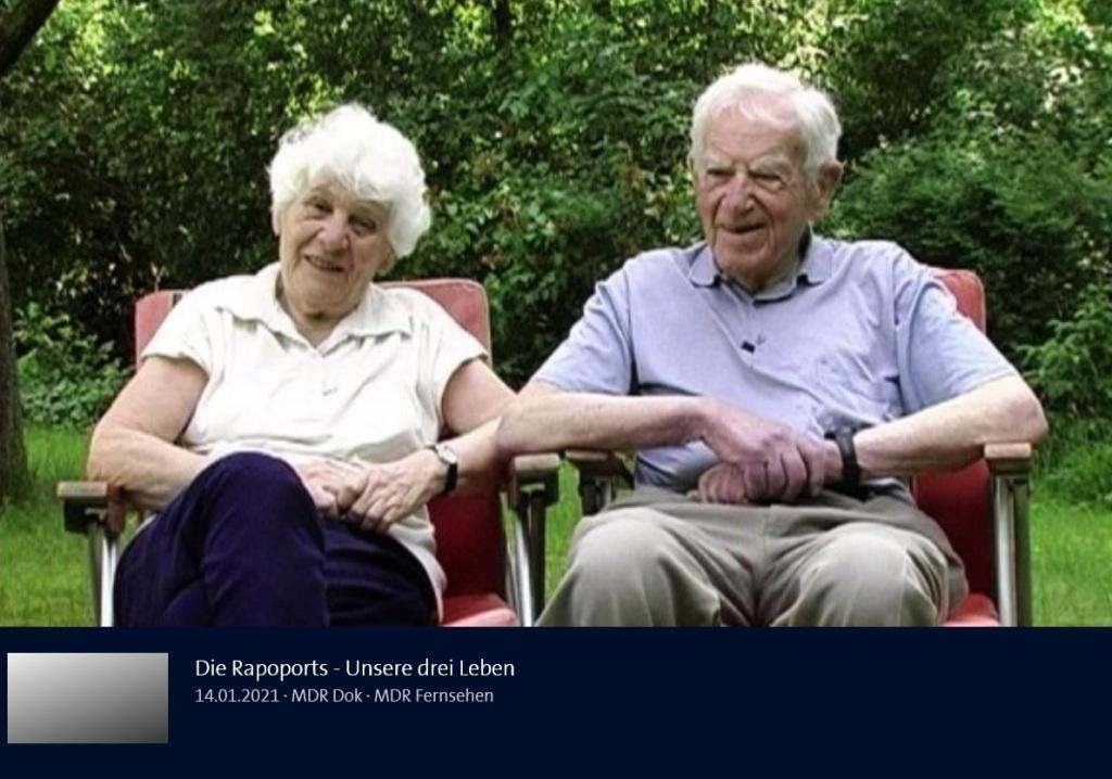 Aus dem Posteingang von Dr. Marianne Linke und Dr. Lienhard Linke  -  Die Rapoports - Unsere drei Leben - 14.01.2021 - MDR Dok - MDR Fernsehen