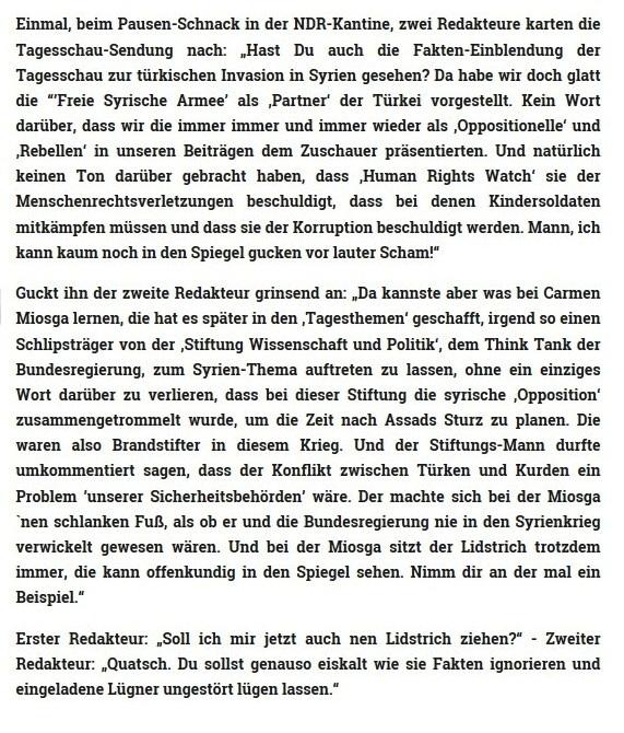 Make up mit Caren Miosga - Syrien, Kurden, Türken: Alles innere Sicherheit - Autor: Ulrich Gellermann - 29.01.2018