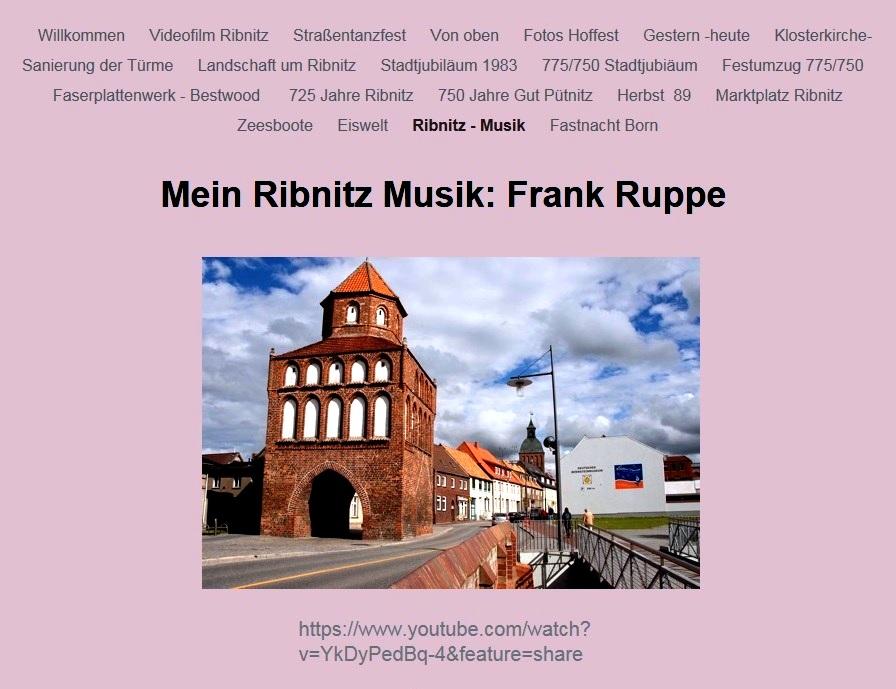 Mein Ribnitz Musik: Frank Ruppe