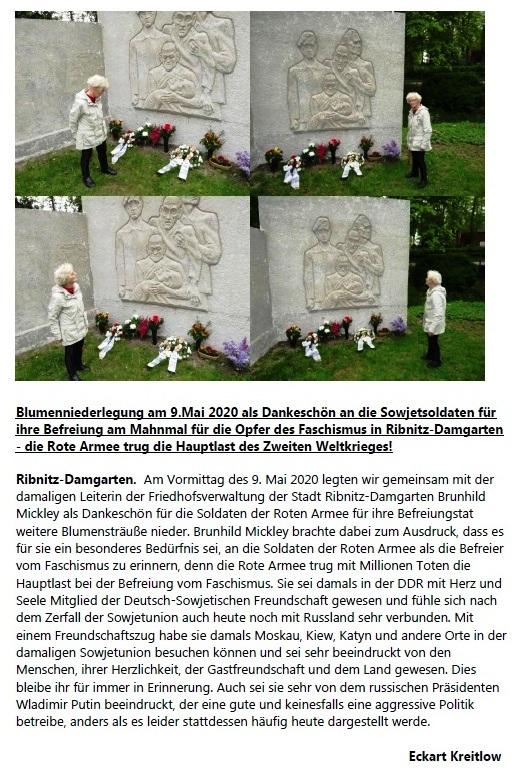 Meine Gedanken zum Tod von Brunhild Mickley (16.04.1948 - 21.01.2021) - Eckart Kreitlow - Ribnitz-Damgarten, 30.01.2021 - Seite 2 von 3
