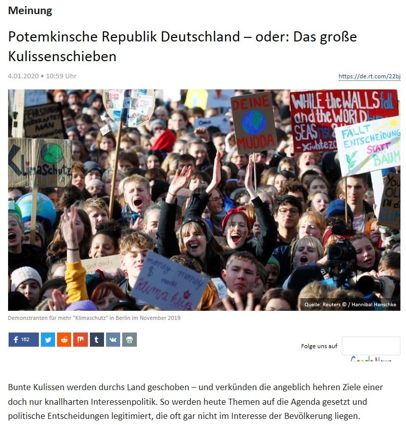 Meinung - Potemkinsche Republik Deutschland – oder: Das große Kulissenschieben