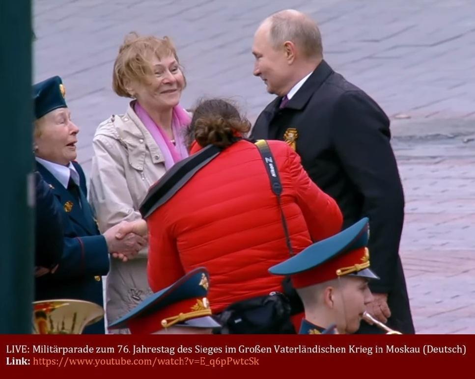 LIVE: Militärparade zum 76. Jahrestag des Sieges im Großen Vaterländischen Krieg in Moskau (Deutsch) - RT DE - Livestream - Moskau - 09.05.2021 - Link: https://www.youtube.com/watch?v=E_q6pPwtcSk