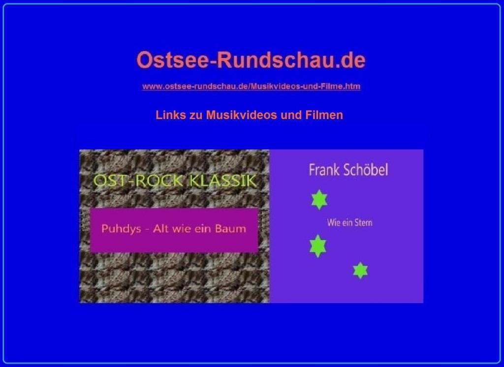 Links zu Musikvideos und Filmen auf Ostsee-Rundschau.de - Neue Unabhängige Onlinezeitungen (NUOZ)