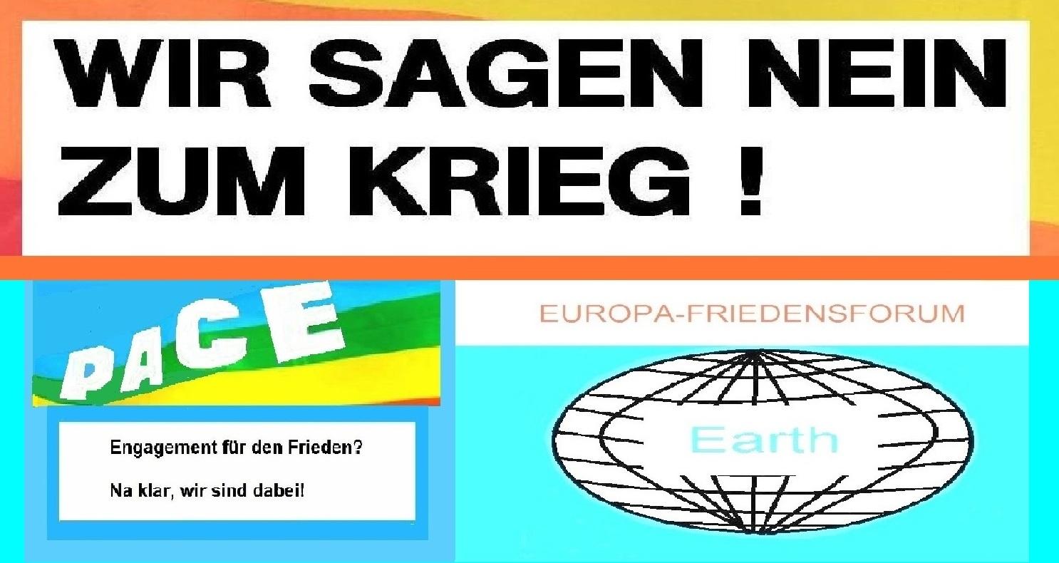 Europa-Friedensforum auf Ostsee-Rundschau.de | Wir sagen NEIN zum Krieg! Engagement für den Frieden? Na klar, wir sind dabei! Grafik / Zeichnung: Eckart Kreitlow
