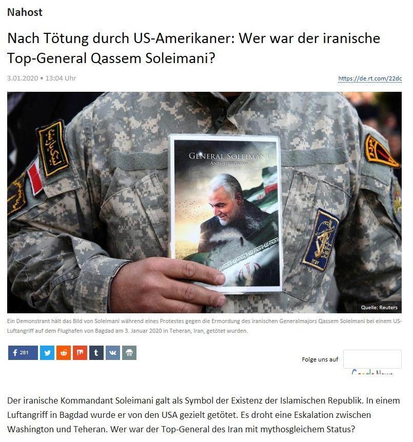 Nahost -  Nach Tötung durch US-Amerikaner: Wer war der iranische Top-General Qassem Soleimani?