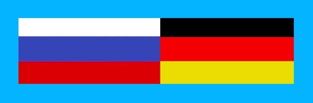 Russische Förderation - Bundesrepublik Deutschland - Nationalfahnen - Gegen Kriegshetze und Russland-Bashing - Frieden mit Russland! - Für Frieden, Zusammenarbeit und Völkerverständigung! - Neue Unabhängige Onlinezeitungen (NUOZ) Ostsee-Rundschau.de