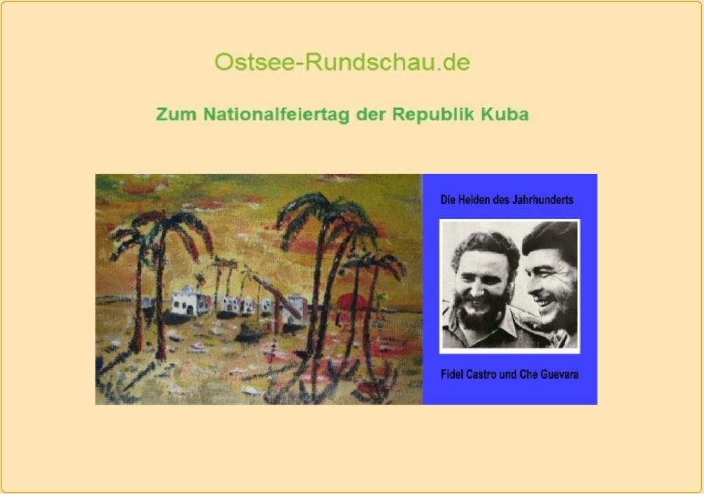Neue Unabhängige Onlinezeitungen (NUOZ)  - NUOZ-Sonderseite zum Nationalfeiertag der Republik Kuba auf Ostsee-Rundschau.de