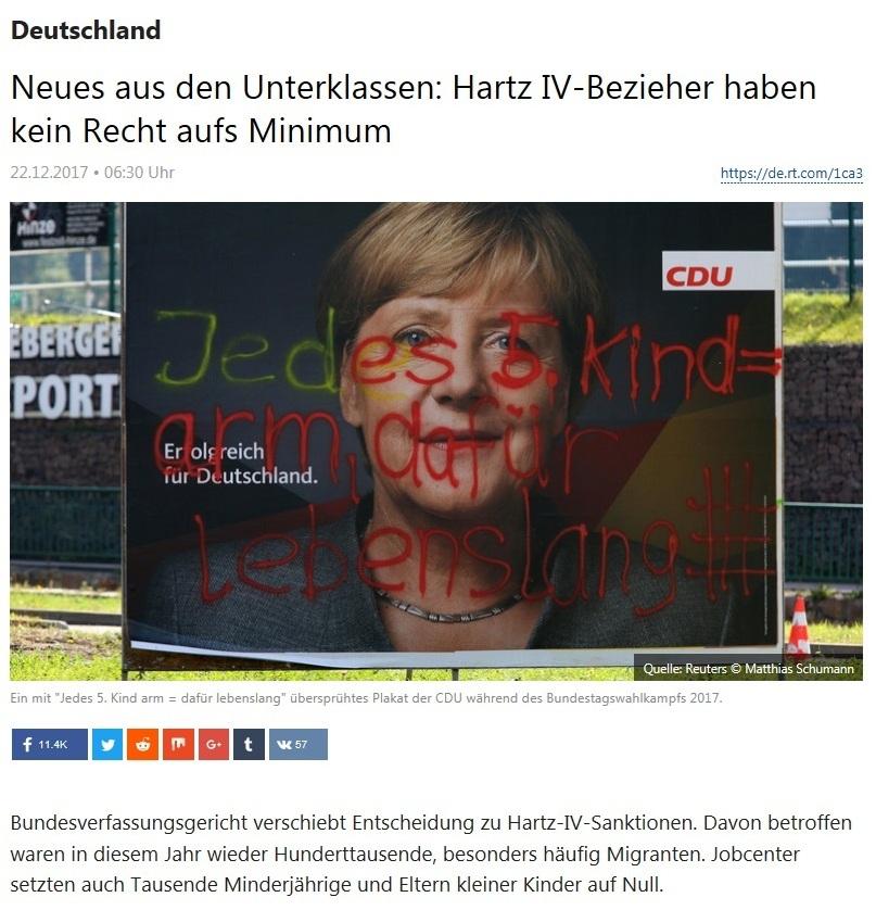 Deutschland - Neues aus den Unterklassen: Hartz IV-Bezieher haben kein Recht aufs Minimum