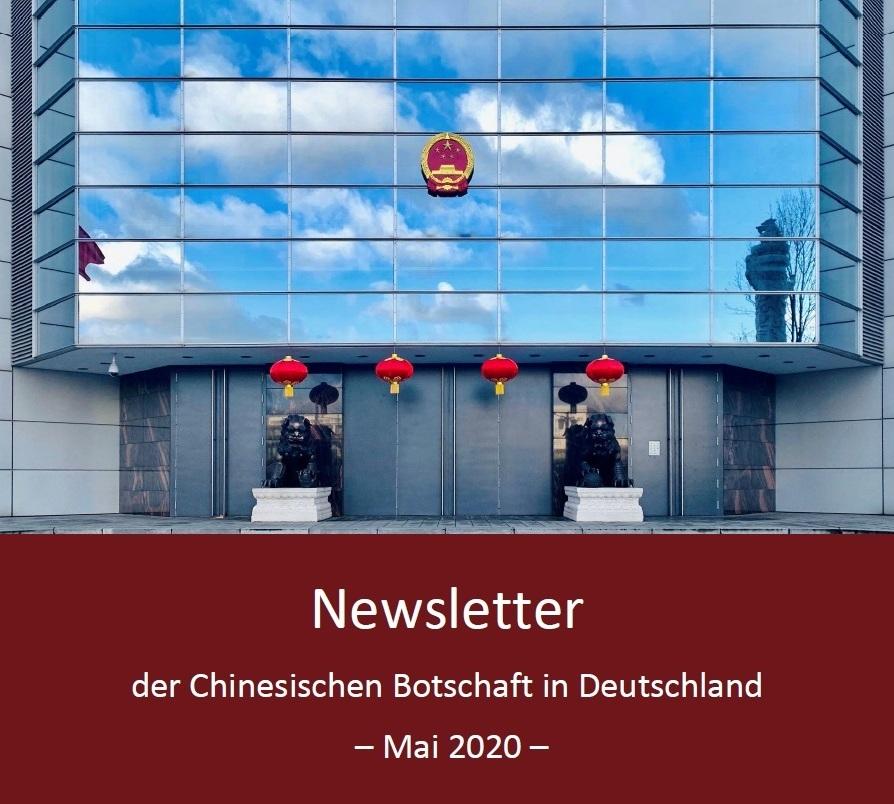 Aus dem Posteingang von Egon Krenz - Newsletter der Chinesischen Botschaft in Deutschland - Mai 2020 - PDF