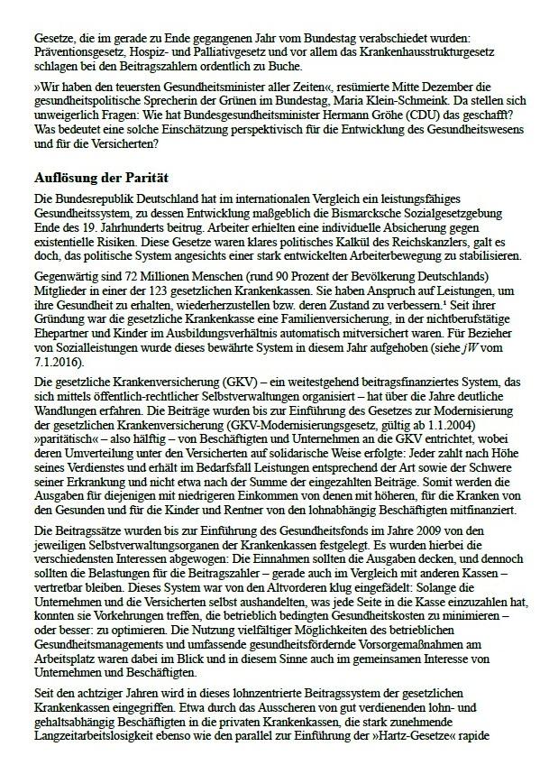 Aus: jW Ausgabe vom 12.01.2016, Seite 12 / Thema Operationen am offenen Geldbeutel | Seit Jahresanfang gilt das Krankenhausstrukturgesetz. Über die Misere im Gesundheitssystem und wie es verbessert werden könnte | Von Marianne Linke