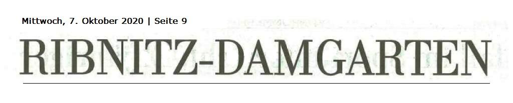 OZ-Beitrag Mittwoch, 07. Oktober 2020 | Seite 9 - Ostsee-Zeitung Ribnitz-Damgarten - Klockenhäger diskutieren über Container-Kita - Von Dr. Edwin Sternkiker
