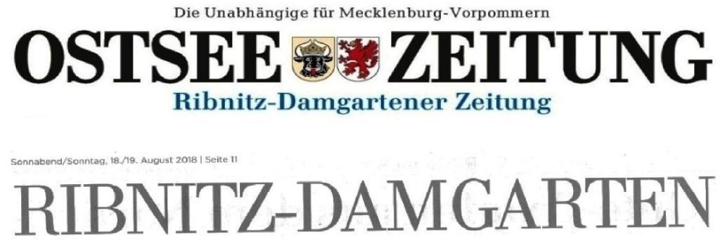 Ostsee-Zeitung - Ribnitz-Damgartener Ausgabe - Seite 11 - Sonnabend/Sonntag, 18./19. August 2018