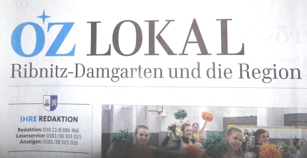 Ostsee-Zeitung vom 21.03.2016 - Lokalausgabe Ribnitz-Damgarten und die Region Seite 9 OZ-Beitrag zu den Wahlen des Ortsverbandes DIE LINKE Ribnitz-Damgarten am 17.März 2016.