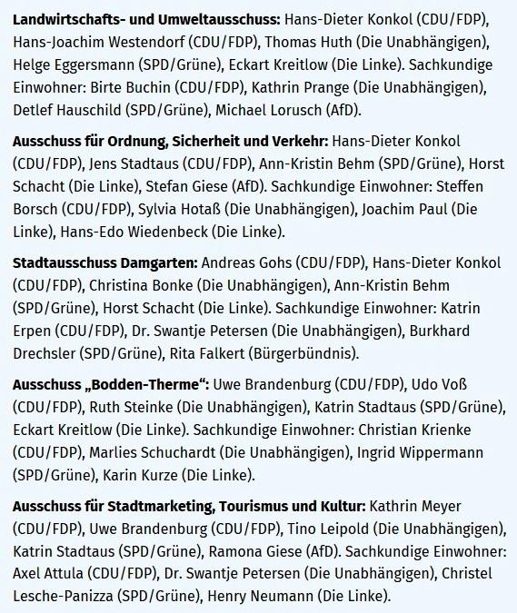 Ein neuer Stadtpräsident und die AfD ganz links - OZ-Bericht von der konstituierenden Sitzung der Stadtvertretung Ribnitz-Damgarten am 26. Juni 2019 - von OZ-Redakteur Robert Niemeyer