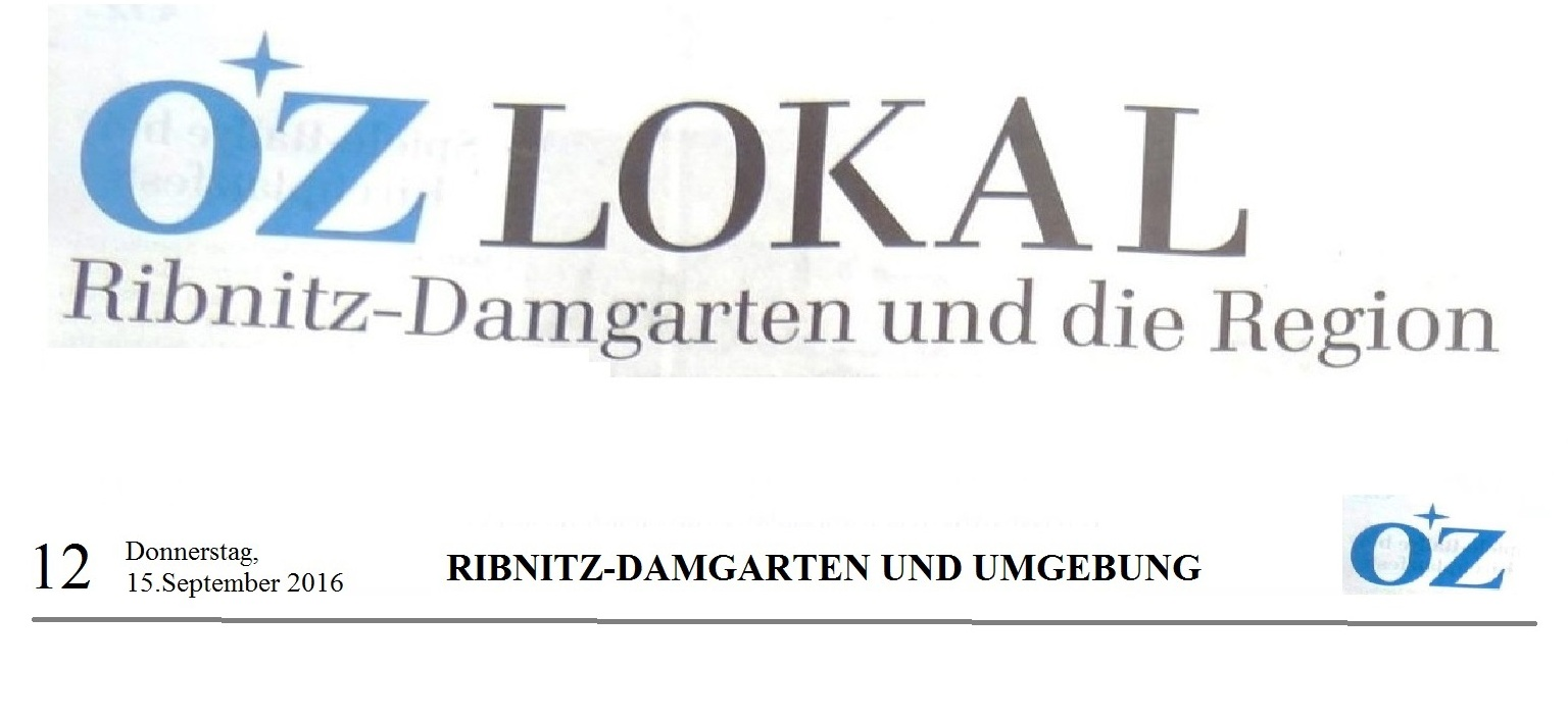 OZ Lokal Ribnitz-Damgarten und die Region vom 15.09.2016, Seite 12