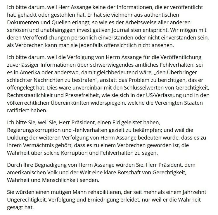 UN-Sonderberichterstatter über Folter Nils Melzer hat einen Offenen Brief an US-Präsident Donald Trump geschrieben. Darin bittet er ihn um die Begnadigung von Julian Assange. Susanne Hofmann hat den Offenen Brief für die NachDenkSeiten übersetzt. - Ein Artikel von: Redaktion - NachDenkSeiten - Die kritische Website - 23. Dezember 2020 um 8:39
