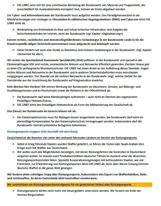 Ohne Frieden ist alles nichts! Wahlprogramm der Partei DIE LINKE zur Bundestagswahl am 26. September 2021 - Aus dem Posteingang von Siegfried Dienel vom 03.08.2021 - Abschnitt 4