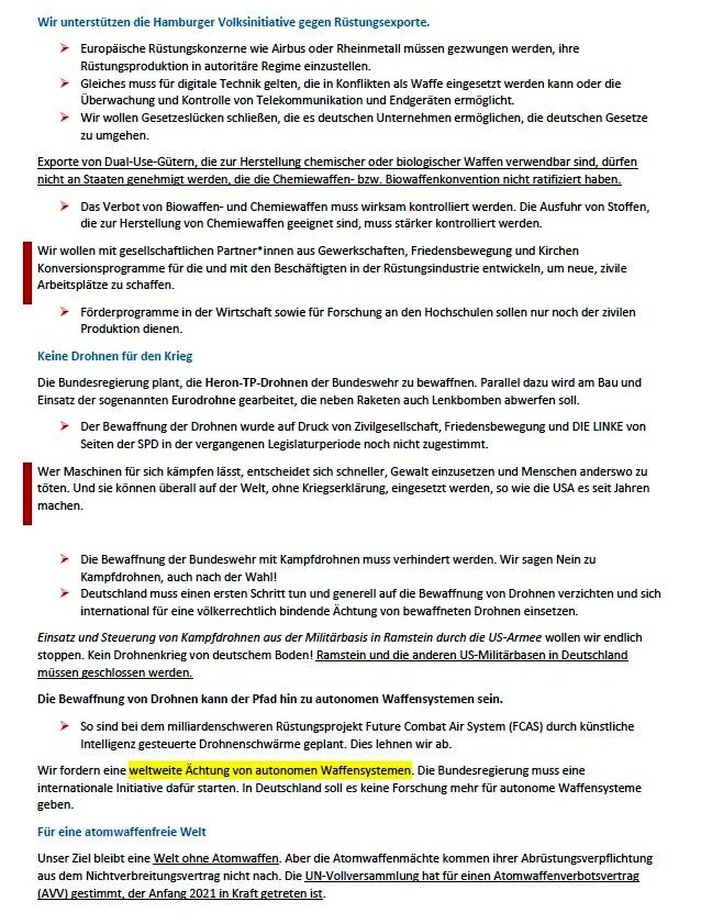 Ohne Frieden ist alles nichts! Wahlprogramm der Partei DIE LINKE zur Bundestagswahl am 26. September 2021 - Aus dem Posteingang von Siegfried Dienel vom 03.08.2021 - Abschnitt 5
