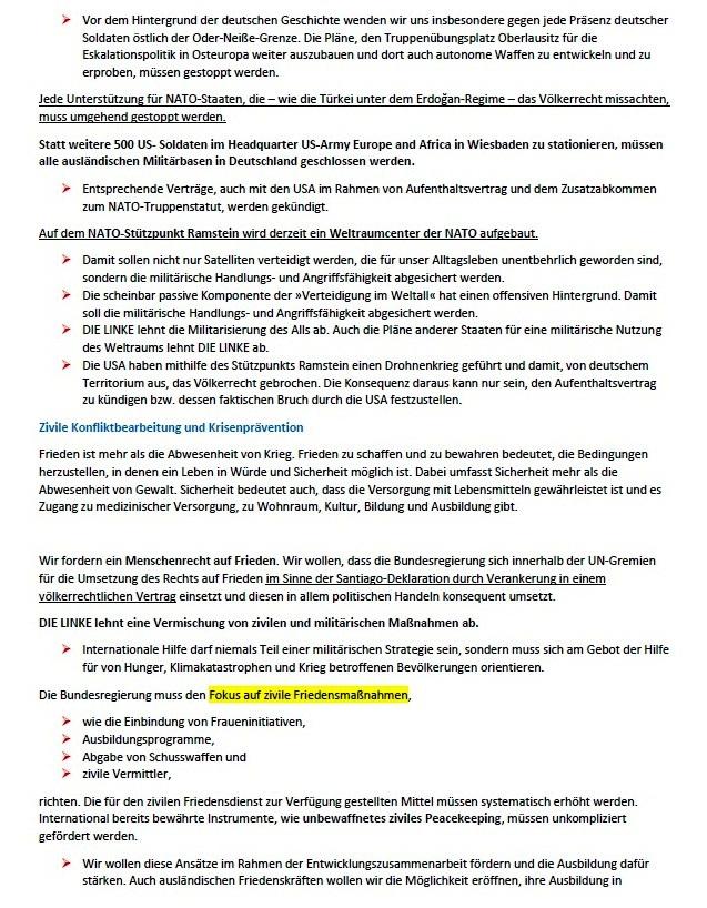 Ohne Frieden ist alles nichts! Wahlprogramm der Partei DIE LINKE zur Bundestagswahl am 26. September 2021 - Aus dem Posteingang von Siegfried Dienel vom 03.08.2021 - Abschnitt 7