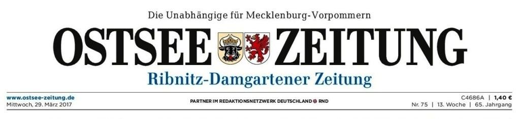 Ostsee-Zeitung - die Unabhängige in Mecklenburg-Vorpommern
