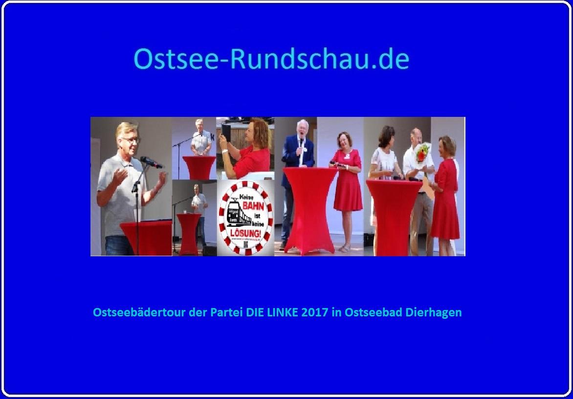 Ostseebädertour der Partei DIE LINKE zur Wahl zum 19. Deutschen Bundestag mit Dr. Dietmar Bartsch (MdB), Kerstin Kassner (MdB) und Heidrun Bluhm (MdB) am 29. August 2017 in Ostseebad Dierhagen auf Ostsee-Rundschau.de