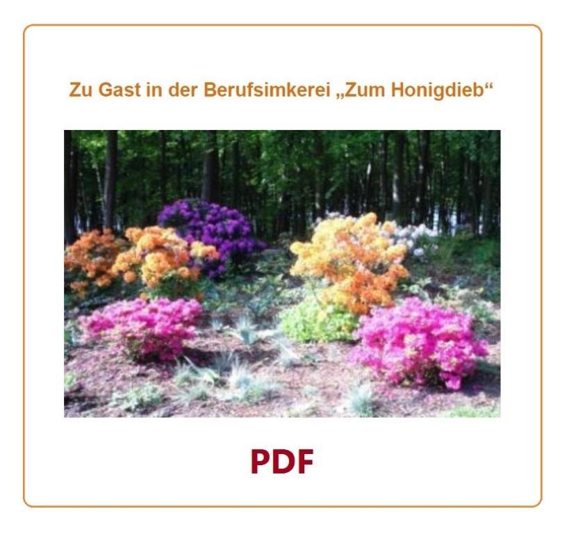Zu Gast in der Berufsimkerei 'Zum Honigdieb' - PDF