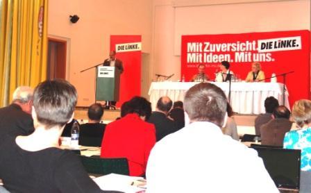 Fotos vom Güstrower Landesparteitag der Partei Die Linke am 3.März 2012. Foto: Eckart Kreitlow