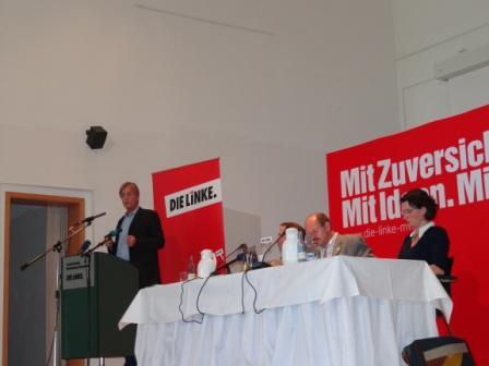 Fotos von der 1. Außerordentlichen Tagung des 3. Landesparteitages der Partei Die Linke am 24.September 2011 in Güstrow. Foto: Eckart Kreitlow