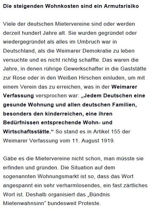 Prantls Blick - die politische Wochenschau - Süddeutsche Zeitung,  Ausgabe vom 18.04. 2021 - Zum Mietendeckel - Jurist/Journalist Prantl - Aus dem Posteingang vom 18.04.2021 von Dr. Marianne Linke - Abschnitt 3