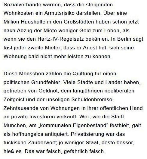 Prantls Blick - die politische Wochenschau - Süddeutsche Zeitung,  Ausgabe vom 18.04. 2021 - Zum Mietendeckel - Jurist/Journalist Prantl - Aus dem Posteingang vom 18.04.2021 von Dr. Marianne Linke - Abschnitt 4