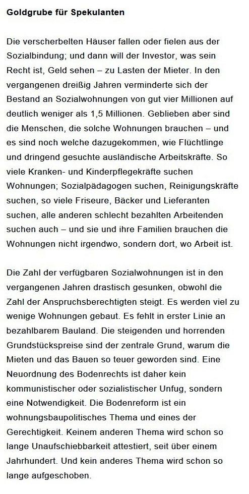 Prantls Blick - die politische Wochenschau - Süddeutsche Zeitung,  Ausgabe vom 18.04. 2021 - Zum Mietendeckel - Jurist/Journalist Prantl - Aus dem Posteingang vom 18.04.2021 von Dr. Marianne Linke - Abschnitt 5