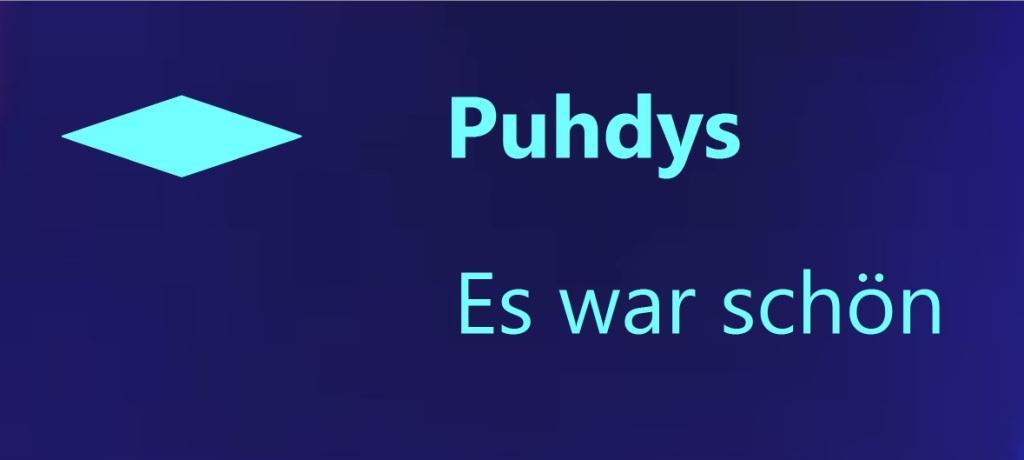 Puhdys - Es war schön