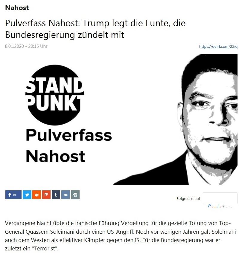 Nahost - Pulverfass Nahost: Trump legt die Lunte, die Bundesregierung zündelt mit