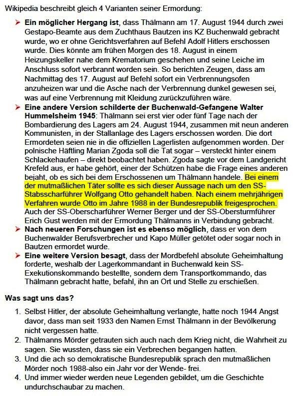 Rede von Siegfried Dienel auf der Kundgebung am 18. August 2018 in Stralsund anlässlich des 74. Jahrestages der Ermordung Ernst Thälmanns - Aus dem Posteingang von Siegfried Dienel vom 11.03.2021 - Abschnitt 2