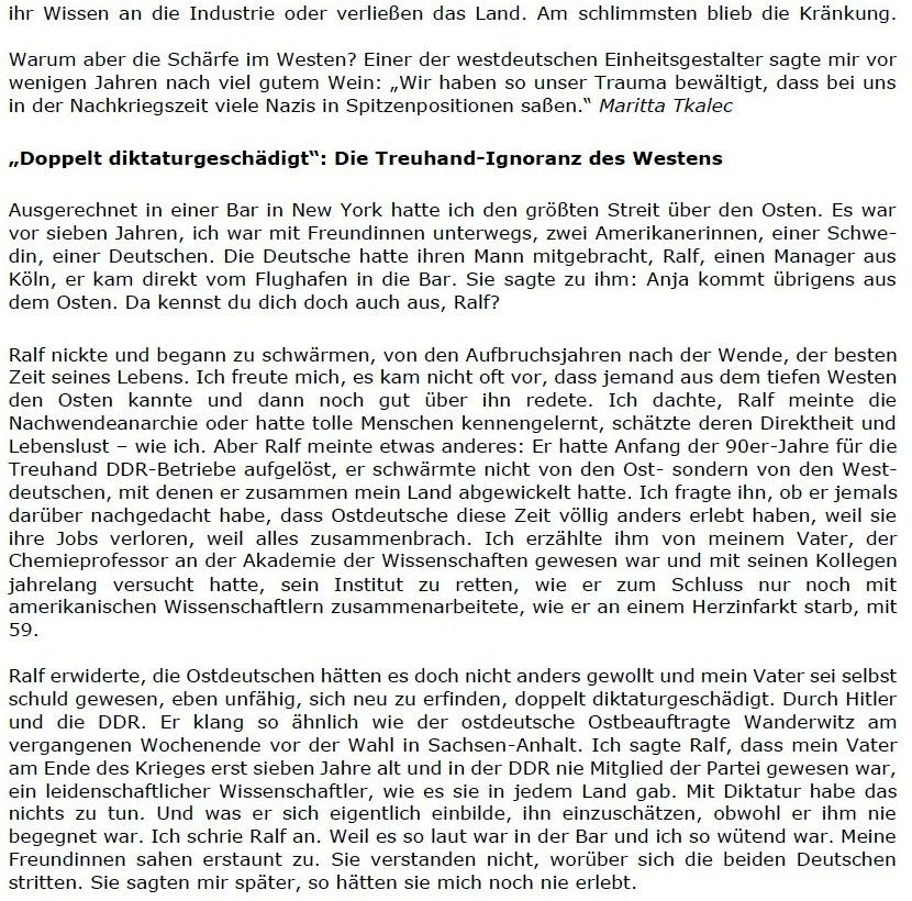 Replik auf den Spiegel: Der Hamburger Spiegel schreibt positiv über den Osten, und wir sagen 'Danke!' - Berliner Zeitung - 06.06.2021 - Berliner Zeitung: Abwicklung DDR: Diplomaten / Treuhand / Palast der Republik - Aus dem Posteingang vom 13.06.2021 von Dr. Marianne Linke - Link: https://www.berliner-zeitung.de/wochenende/der-hamburger-spiegel-schreibt-positiv-ueber-den-osten-und-wir-sagen-danke-li.162776 - Teil 3