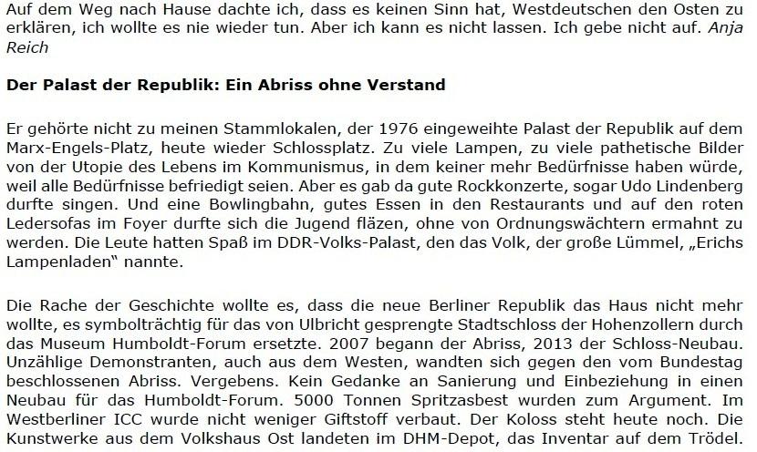 Replik auf den Spiegel: Der Hamburger Spiegel schreibt positiv über den Osten, und wir sagen 'Danke!' - Berliner Zeitung - 06.06.2021 - Berliner Zeitung: Abwicklung DDR: Diplomaten / Treuhand / Palast der Republik - Aus dem Posteingang vom 13.06.2021 von Dr. Marianne Linke - Link: https://www.berliner-zeitung.de/wochenende/der-hamburger-spiegel-schreibt-positiv-ueber-den-osten-und-wir-sagen-danke-li.162776 - Teil 4