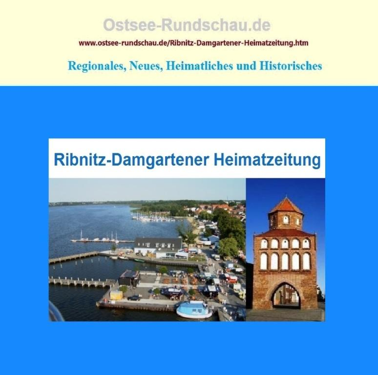 Ostsee-Rundschau.de - Ribnitz-Damgartener Heimatzeitung - Blick aus der Gondel eines Riesenrades in 38 m Höhe auf Ribnitz-Damgarten - Das Rostocker Tor in Ribnitz-Damgarten ist ein historisches Bauwerk aus dem 13.Jahrhundert. Es war ursprünglich Teil einer mittelalterlichen slawischen Burganlage unter anderem mit einer Stadtmauer und  5 Türmen. Fotos: Eckart Kreitlow