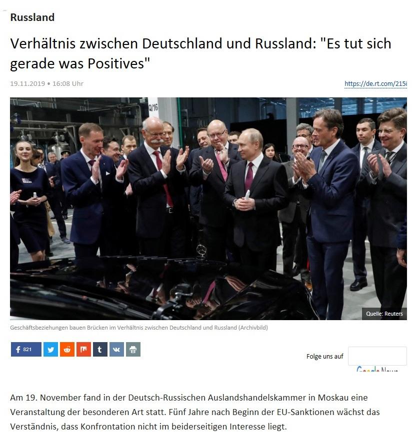 Russland - Verhältnis zwischen Deutschland und Russland: 'Es tut sich gerade was Positives'
