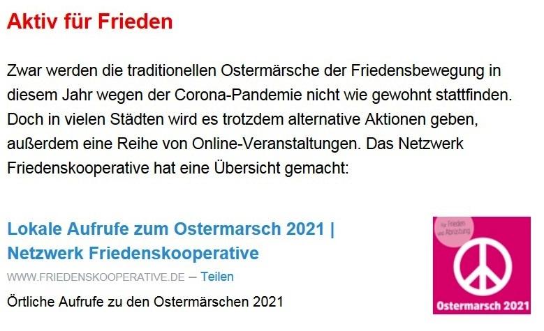Aus dem Posteingang von Dr. Sahra Wagenknecht (MdB) - Team Sahra 01.04.2021 - Unbeschwert Ostern feiern? Leider nicht möglich... - Abschnitt 5
