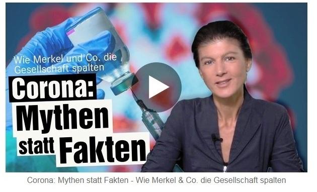 Aus dem Posteingang von Dr. Sahra Wagenknecht (MdB) - Team Sahra 02.09.2021 - Corona: Mythen statt Fakten - Wie Merkel & Co. die Gesellschaft spalten - Abschnitt 2