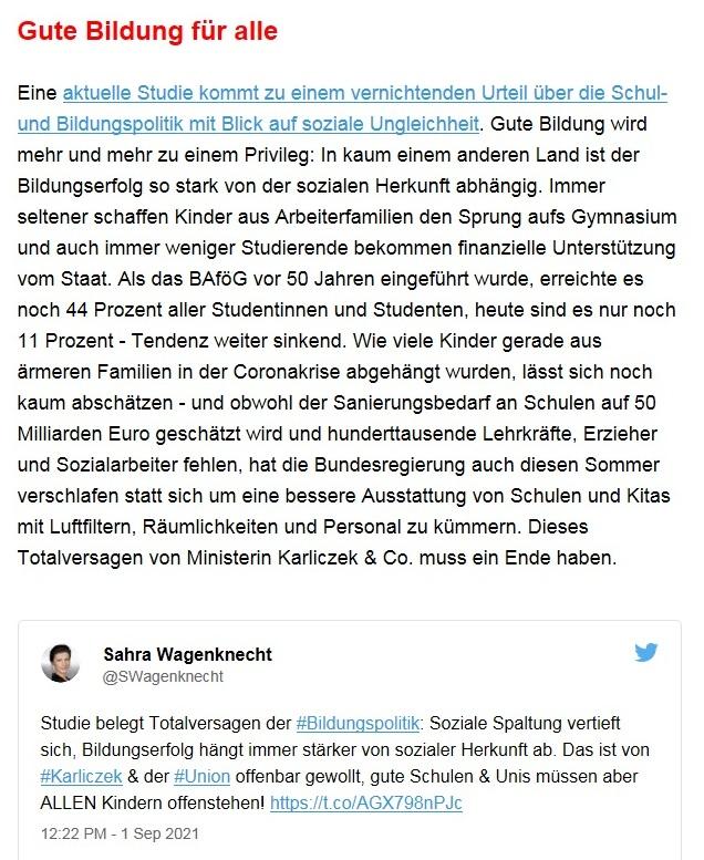Aus dem Posteingang von Dr. Sahra Wagenknecht (MdB) - Team Sahra 02.09.2021 - Corona: Mythen statt Fakten - Wie Merkel & Co. die Gesellschaft spalten - Abschnitt 7