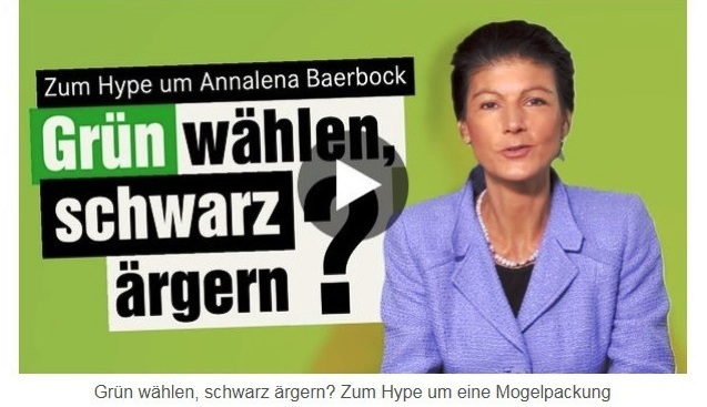 Aus dem Posteingang von Dr. Sahra Wagenknecht (MdB) - Team Sahra 06.05.2021 - #allesdichtmachen - Grün wählen, schwarz ärgern? Zum Hype um eine Mogelpackung - Abschnitt 2