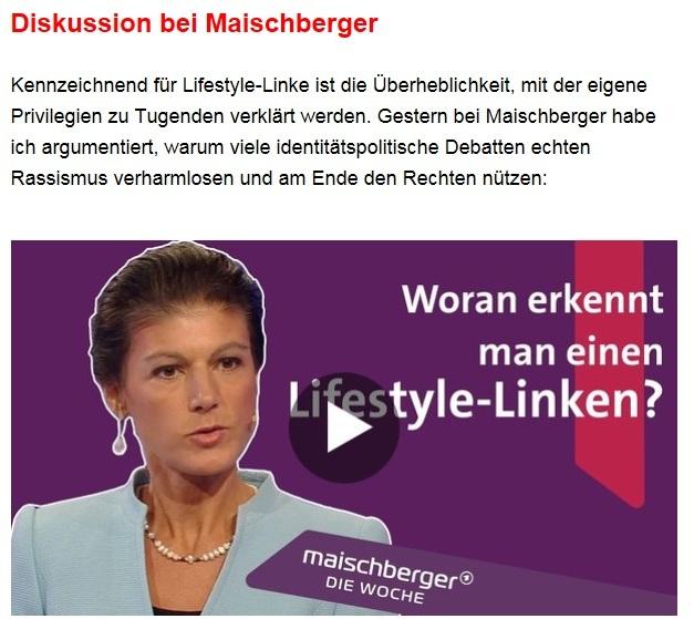 Aus dem Posteingang von Dr. Sahra Wagenknecht (MdB) - Team Sahra 06.05.2021 - #allesdichtmachen - Grün wählen, schwarz ärgern? Zum Hype um eine Mogelpackung - Abschnitt 3