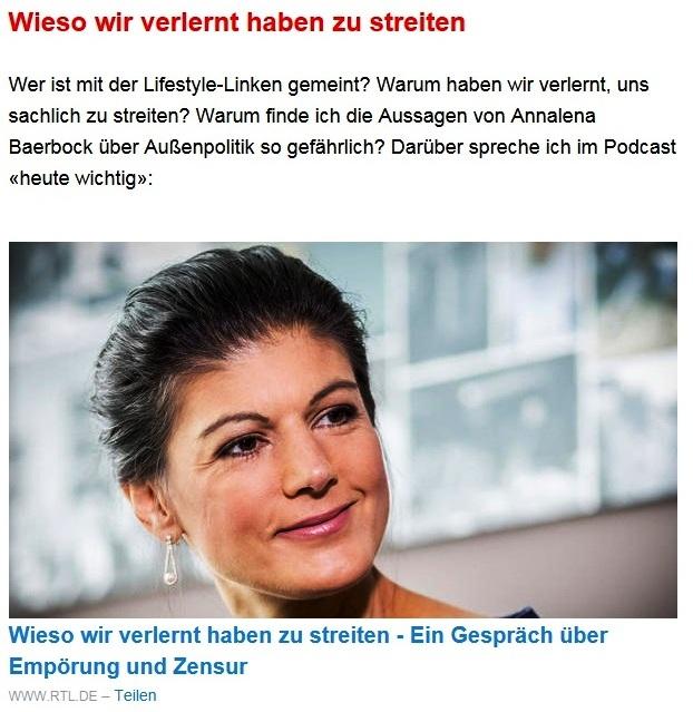 Aus dem Posteingang von Dr. Sahra Wagenknecht (MdB) - Team Sahra 06.05.2021 - #allesdichtmachen - Grün wählen, schwarz ärgern? Zum Hype um eine Mogelpackung - Abschnitt 5