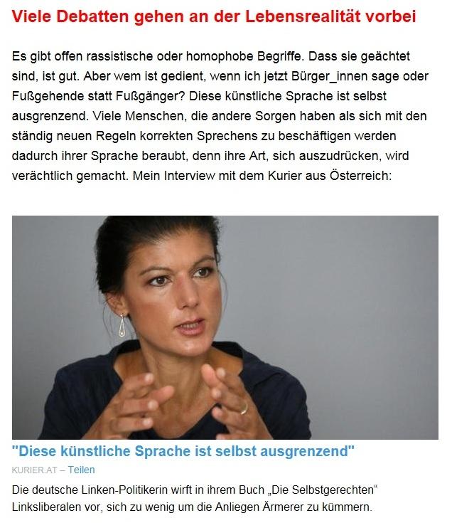 Aus dem Posteingang von Dr. Sahra Wagenknecht (MdB) - Team Sahra 08.07.2021 - Das Leben wird teurer - auch wegen falscher Politik - Abschnitt 5 - Link: https://kurier.at/politik/ausland/sahra-wagenknecht-links-steht-nicht-mehr-fuer-gerechtigkeit/401432881