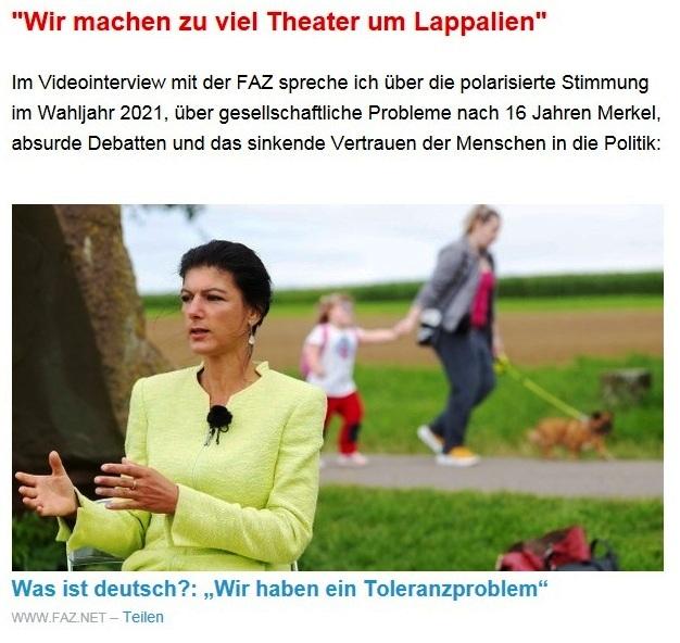 Aus dem Posteingang von Dr. Sahra Wagenknecht (MdB) - Team Sahra 09.09.2021 - Ernste Probleme und ein inhaltsarmer Wahlkampf - Abschnitt 3