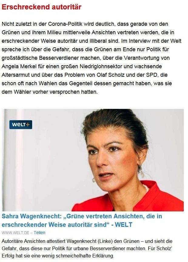 Aus dem Posteingang von Dr. Sahra Wagenknecht (MdB) - Team Sahra 09.09.2021 - Ernste Probleme und ein inhaltsarmer Wahlkampf - Abschnitt 4