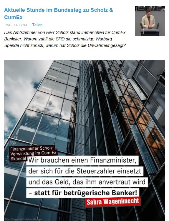 Aus dem Posteingang von Dr. Sahra Wagenknecht (MdB) - Team Sahra 10.09.2020 - Alles halb so wild? Warum die Krise schwerer ist, als die Bundesregierung behauptet